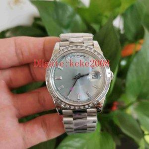 Ew fabricante homens relógios de pulso 40mm 228396 Diamante Dial Ice azul 904L Sapphire Luminescent Cal.3255 Movimento Automático Mecânica Mens Mens Relógios