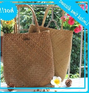 Woven Large Rattan Straw Flower Basket Storage Tote Female Bags Travel Handbag Shopping Braided Hand Bag For Women Girl