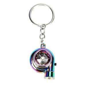 Mini Turbo Turbocharger Keychain Kye-Chain Car Accessories Ring Keyring Interior Keyfob Y0S8 Keychains