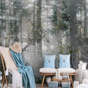 Wallpapers Custom Size Modern Abstract Natural Forest Woods 3d Wall Paper Home Decor Mural Bedroom Self-adhesive Wallpaper Pvc