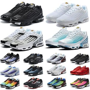 Tn Plus 3 Running Shoes Men chaussures Triple White Black Iridescent Green OG USA Neon Mens Womens Trainers Sneakers Sports 36-45