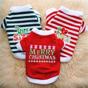 Elf Sublimation Blanks Dog Apparel Santa Claus Dogs Clothe Plain T-Shirt Cotton Ventilation Spring Summer Vests Christmas Sweater Bulldog Chihuahua S