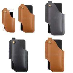 Oblique Span Mobile Téléphone Sac Motion Run Security Belt Sacs Sacs MAN PU Boucle Paquet à l'extérieur Couleur solide 13YY2 O2