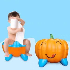 Arrival 3 Colors Cute Pumpkin Style Designer Toilet Seat for Children with High Quality Children's Training Device