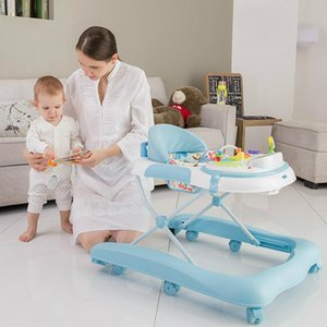 Baby Walkers Infant Child 6 7 To 18 Months Prevent Rollover Multi-function Music U Shape Learn Walker With Drivin
