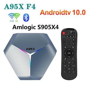 A95X F4 RGB Amlogic S905X4 Smart Android 10 TV Box 4K HD YouTube 2 ГБ ОЗУ 16 ГБ ROM Wi-Fi Установить верхнюю коробку 2G 16G VS A95X F3