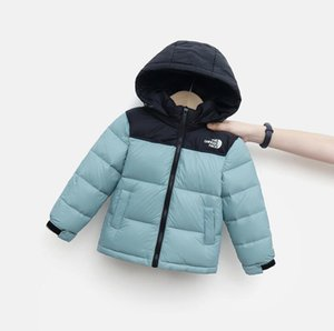 Children's Down Coat Designer Boy's Outerwear Hooded Girl Warm Jacket Color Blocking Classic Design 110-160cm