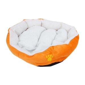 Kennels & Pens Large Waterproof Warm Soft Fleece Puppy Pet Dog Cat Bed House Basket Nest Mat - Orange