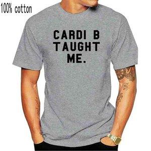 Misky Stone Kardi B Öğretti Bana Fan Gevşek Fit Unisex Bardi Gang Tee Hediye Baskı T Gömlek