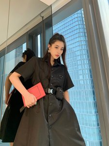 2021SS New fashion skirt for women tops Street Style Dresses Limited edition belt bag shirt dress Recycled polyester texture fabric Perfect details shirts