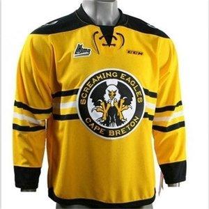 668668goodjob Men Youth women Vintage CHL QMJHL Cape Breton Screaming Eagles Alternate 1997-06 29 Marc-Andre Fleury Hockey Jersey Size S-5XL