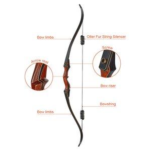 Lbs Traditional Reverse Bow with 16 Strand Dacron Bowstring Lamination Limbs for Right Hand Beginner Archery