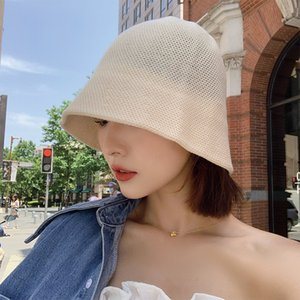 Off white fisherman's Women's fashion brand show face small summer mesh breathable basin hat Bucket Hat
