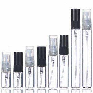 2ml 3ml 5ml 10ml Plastic Glass Mist Spray Perfume Bottle Small Parfume Atomizer Travel Refillable Sample Vials