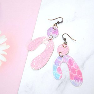 MultiColor Irregular Leather Women Vintage Style Cutting Earrings Sequins Dangle Fashion Trendy & Chandelier