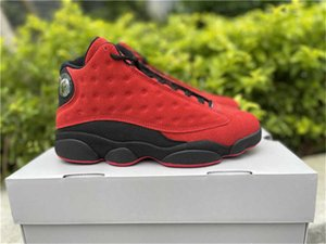 Release Authentic 13 Reverse Bred Outdoor Shoes Men 13S Real Carbon Fiber University Red Zapatos Sneakers With Original