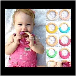 Outros fornecimentos de festa de evento anel de madeira artesanal círculos de madeira círculos de madeira dentição traning brinquedos presentes teether bebê cuidados ferramenta ew geuy5