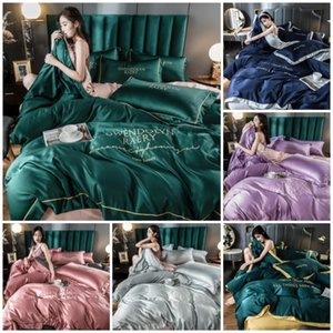 9Style 2 3 4 Pcs Luxury European Style Duvet Cover Set Silk Cotton Bedding Quilt Pillowcase Queen King Size Comforter Sets