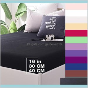 Sheets & Sets Bedding Supplies Home Textiles Garden Custom 600Tc Cotton Solid Fitted Sheet Bedsheet Bed With Elastic Band 1Pcs 160X200
