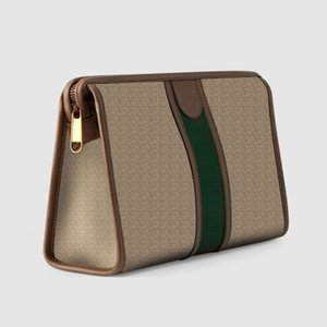 598234 Women Ophidia Clutch Bag 28.5cm With Large Capacity For Beauty Case Toiletry Washing Room Pouch Cosmetic Box Makeup Handbags Designer