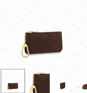 Top quality Genuine Leathe Holder Luxurys Designers Fashion handbag Men free Women's Card Holders Black Lambskin Mini Wallets Key Pocket Interior Slot Coin Purse