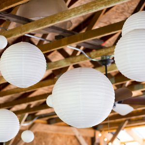20cm Chinese Paper Lanterns Round Ballon Ball For Wedding Decorations Home Party Decor DIY Children Printing Lantern Halloween Festival Supplies 10pcs lot AL8947