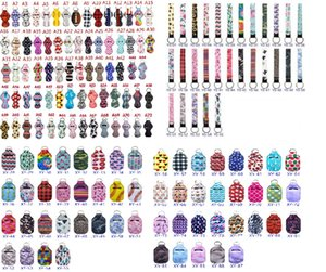 Customize Party Favor Neoprene Sanitizer Keychain Bag 30ML Printed Hand Soap Bottle Key Ring Chapstick Holder With Baseball