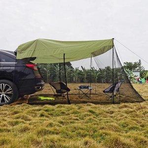 Палатки и приюты Автомобильный багажник Палатка заднего усилителя на солнцезащитный дождь, тент для барбекю.