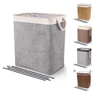 Laundry Basket Foldable Bins Baskets Dirty Clothes Bucket Kids Toys Barrel Storage Bags Household Sundry Organizer SEA EWC7355