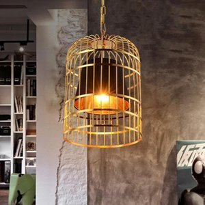 Pendant Lamps Chinese Bird Cage Light Living Room Restaurant Dining Chandelier Fabric Hanging Lamp Cloth Droplight