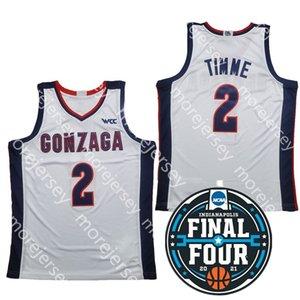 2021 Finals Four NCAA College Basketball Jersey Gonzaga 2 Drew Timme 1 Jalen Suggs Corey Kispert Size S-3XL