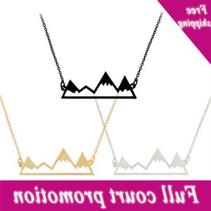 Top selling creative jewelry: mountain peaks, hollow out elegant women's Necklace