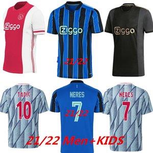 Fussball Jerseys 2021 2022 Kudus Antony Blind Promes Tadic Neres Cruyff Jersey 21 22 Herren + Kinder Kit Fußball Hemd Uniformen weg blau dritter schwarz