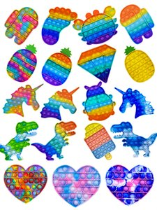 Fast Shipping Push Popit Bubble Fidget Sensory Toy Stress Sterever Stress Sfort Giocattoli sensoriali Giocattoli sensoriali Stress e ansia Giocattoli per i bambini