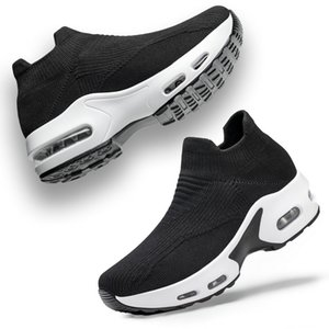 2021 womens running shoes casual air cushion dress runner black white trainers hiking zapatos sneakers shoe Size 36 - 40