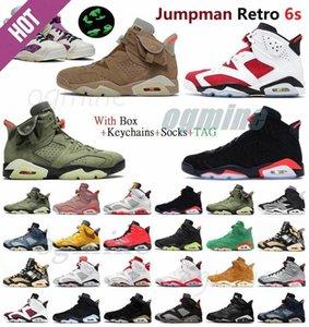 Jumpman 6 6S Chaussure de basketball réfléchissant infrarouge Rétro \ RMEN Femmes DMP UNC PE MILLENIAL PINK MENS SPORTS CHAUSSURES AUTORISES Sneakers QWX2 #