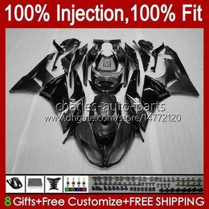Injection Body For KAWASAKI NINJA ZX 6R 600CC 6 R 636 600 CC ZX6R 13 14 15 16 17 18 12No.65 ZX-636 ZX-6R ZX600 ZX636 2013 2014 2015 2016 2017 2018 OEM Fairing Kit grey black stock