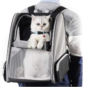 Black Foldable Pet Carrier Backpack for Dogs and Cats Puppies Fully Ventilated Mesh,Magic Fit Pocket Airline Approved Designed Travel Hiking Walking&Outdoor Use