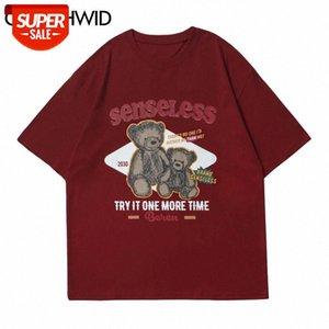 T-Shirt Baumwolle T-Shirts Männer Sommer Mode Hip Hop Kurzarm Anime Cartoon Mädchen T-Shirts Streetwear Casual Harajuku Tops T-Stück Party # CF3T