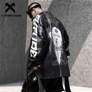 11 vestes de cargaisons sombres de BYBB Men Streetwear Patchwork Fonction tactique Veste épaisse Veste Parka Harajuku Windbreaker Manteau 201125