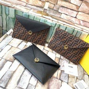 Fendi Top quality Card holder Wallets Key Purse Luxurys Designers Holders big Embossing Men Women's COIN Genuine Leather FD Lambskin mi