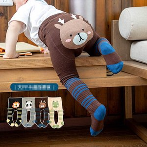 Leggings Baby Kids Pants Girls Tights PP Boys Pantyhose Socks Clothing Cotton Cartoon Toddler Clothes 0-5Y B4533