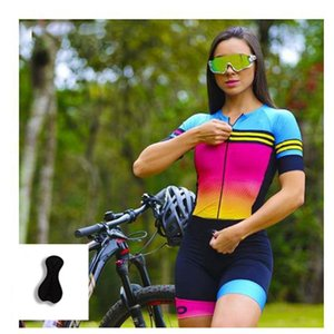 Racing Sets Bike Clothes Roupa Ciclismo Mujer Summer Short Sleeve Shirt Triathlon Custom Bicycle Cycling Jersey Women Set Jumpsuit