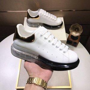 منصة عارضة أحذية أسود أبيض الرياضة الكلاسيكية 3 متر عاكس رجل إمرأة إمرأة اللباس شقة المخملية heelback اللباس fshoe المتضخم أعلى جودة US11 US1 مع مربع