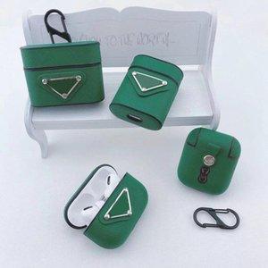 Designer Airpods Pro Case Leder mit Keychain für Air Pods 1/2 Wireless Bluetooth-Kopfhörer Full Cover Protector-Schutz