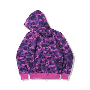 Mens BAPE Styliste capuchons pour hommes femmes Styliste Veste à capuche camouflage Imprimer Bape Hommes haute qualité Sweat 6 couleurs