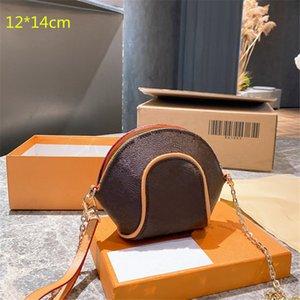 Мода роскошные женщины мини-оболочки сумки цепные дизайнеры Crossbody одно плечо девочек кошельков сцепления смена сумка милый стиль крест корпус с цветами L21032701