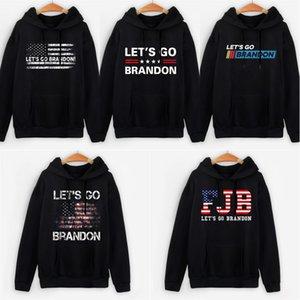 LET'S GO BRANDON Men letter print Hoodie Unisex Oversized Sweatshirt Casual Hoody Harajuku Streetwear Hip Hop Basic Tops