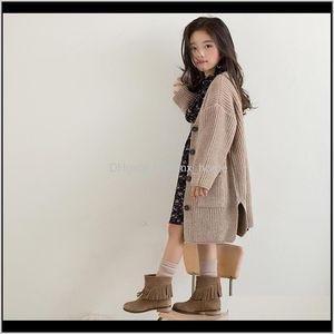 Autumn Baby Tops Brand Girls Sweaters Kids Outerwear Children Cardigan Toddler Single Breasted Coat2640 201126 Yktjs Mwav6