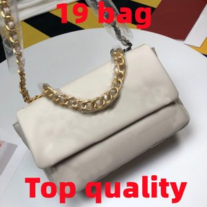 Mujeres Diseñador de lujo Moda 19 Flap Bolsas de Crossbody Bolsas Damas Marca de oro Cadena de oro Monedero de hombro Classic Bolsos de cuero genuino